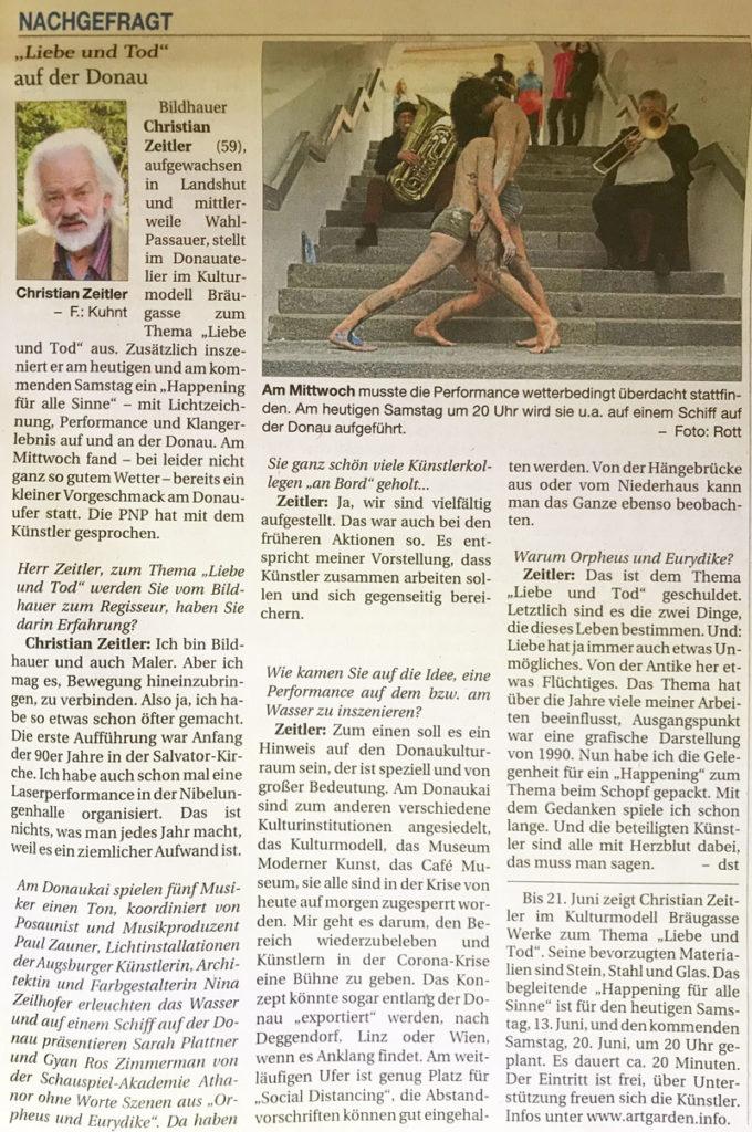 Presseartikel aus der PNP 13.Juni 2020